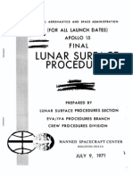 Apollo 15 Final Lunar Surface Procedures