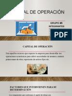 CAPITAL DE OPERACIÓN