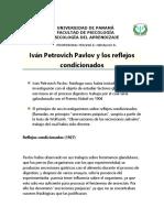 LECTURA PAVLOV Y LOS REFLEJOS CONDICIONADOS