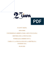 TAREA X HISTORIA DE LA PSICOLOGIA