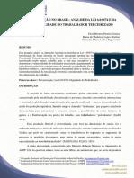 TERCEIRIZAÇÃO NO BRASIL ANÁLISE DA LEI 6.01974 E DA VUNERABILIDADE DO TRABALHADOR TERCEIRIZADO