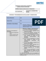 "Criterios de Evaluación ""Sistema Cardiovascular y Respiratorio"" 21-1"
