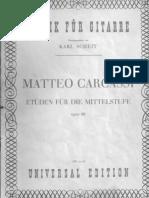 Carcassi Etudien Op.60 - Scheit Edition