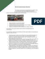 Distribución de un taller de mantenimiento industrial - PUNTO 1.