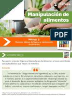 Módulo 1 - Nociones básicas de higiene y manipulación de alimentos