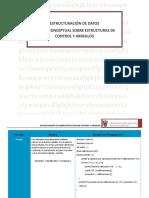 Matriz conceptual sobre estructuras de control y arreglos