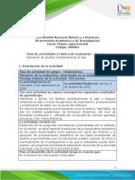 Guía de actividades y rúbrica de evaluación - Unidad 2- Fase 2 - Aplicación de diseños completamente al azar