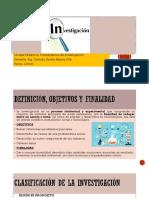 LA INVESVESTIGACION,CLASIFICACIÓN Y CARACTERÍSTICAS