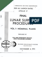 Apollo 17 Final Lunar Surface Procedures