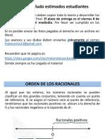 3. ORDEN DE LOS RACIONALES