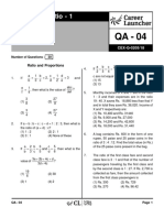 QA-04 Ratio 1 with Solutions