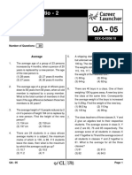 QA-05 Ratio 2 with Solutions