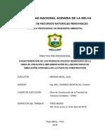 CARACTERIZACION DE LOS RESIDUOS SOLIDOS GENERADOS EN LA OBRA DE CREACION E IMPLEMENTACION DE LABORATORIOS DE SIMULACION CONTABLE EN LA ETAPA DE CONSTRUCCION