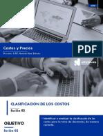 SESION 02 - CLASIFICACION DE LOS COSTOS