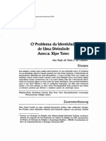 O Problema da Identidade de Uma Divindade Asteca Xipe Totec