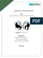 LINEA DE TIEMPO DE LA INTRODUCCION A LA PSICOTERAPIA