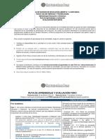 2019-I Ruta de aprendizaje y evaluación Evaluacion Distancia