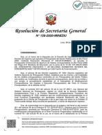 RSG N° 158-2020-MINEDU