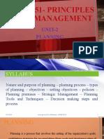 principles of management- unit 2