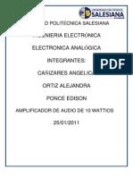 Practica Amplificador de Audio de 10 W