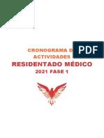 Cronograma - Residentado Médico 2021 Fase 1