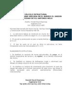DISEÑO ESTRUCTURAL DE VIVIENDA URBANA