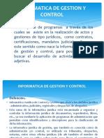INFORMATICA DE GESTION Y CONTROL.CURSO.INF.JURIDICA.UAP