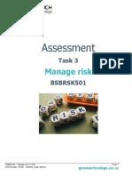 Assessment Task 3 - BSBRSK501
