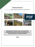 AGRORURAL Lineamientos Técnicos de Ejecución PP089 2020