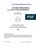 American Indian Mathematics traditions