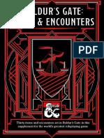 Baldur's Gate Items & Encounters (5e)