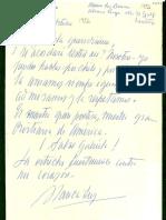 Carta de Gabriela Mistral a Blanca Luz Brum.