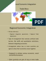 IE & TA - Regional Integration Blocs