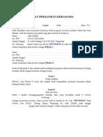 Surat Perjanjian Kerjasama Kaos