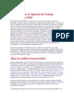 Relación entre la Agenda de Trabajo Decente y los ODS