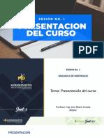 SESION 1. PRESENTACION DEL CURSO