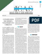 Conselho de desenvolvimento urbano - DICAS Instituto Polis 199