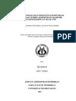 Upaya Meningkatkan Efektivitas Komunikasi Organisasi Di Biro Administrasi Akademik Dan Kemahasiswaan