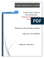 tp thermo Production du froid