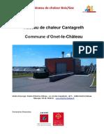 Réseau de chaleur Cantagrelh. Commune d Onet-le-Château