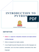 1 Introduction to Python