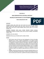 ACTA DE LA MESA REPRESENTATIVA NACIONAL AMPLIADA REUNIDA EN MONTEVIDEO EL 9 DE SETIEMBRE DE 2020