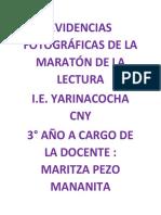 EVIDENCIA MARATON DE LA LECTURA