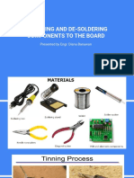 SOLDERING AND DE-SOLDERING COMPONENTS TO THE BOARD