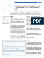 Vitamin D supplementation to prevent acute respiratory