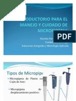 Manejo y cuidado de micropipetas