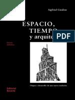 ESPACIO TIEMPO Y ARQUITECTURA