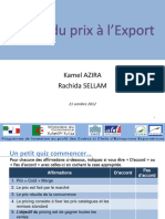 Module 03  Calcul du prix à l'Export