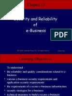 SECURITY RELIABILITY OF E BUSINESS