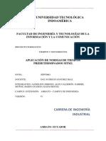 APLICACIÓN DE NORMAS DE TIEMPOS PREDETERMINADOS MTM2